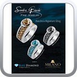 Full page ad for Milano Diamond Gallery and Blue Diamond in Alaska.